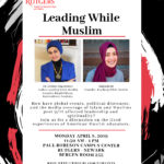 Leading While MuslimApril 8th, 201911:30 a.m. to 1:00 p.m.