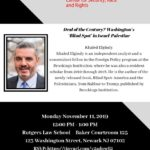 Deal of the Century? Washington's 'Blind Spot' in Israel-Palestine featuring Khaled ElgindyNovember 11th, 201912:00 pm. to 1:00 p.m.
