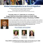 Global Islamophobia in an Era of PopulismMarch 12, 20209:30 am. to 6:30 p.m.